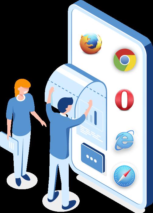 نسخه موبایل و وب